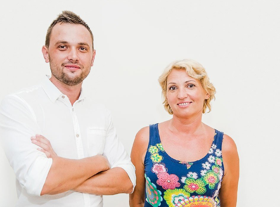 Family Evgheni and Valentina