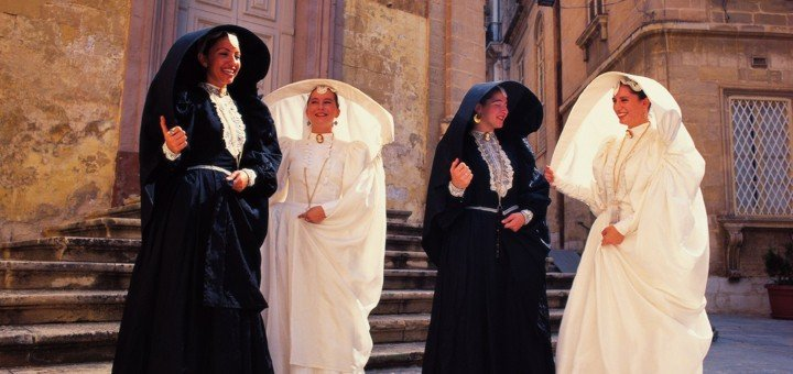 Traditional dress of women of Malta