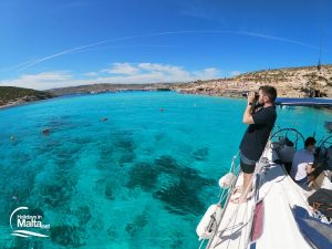 Blue Lagoon on a sailing boat