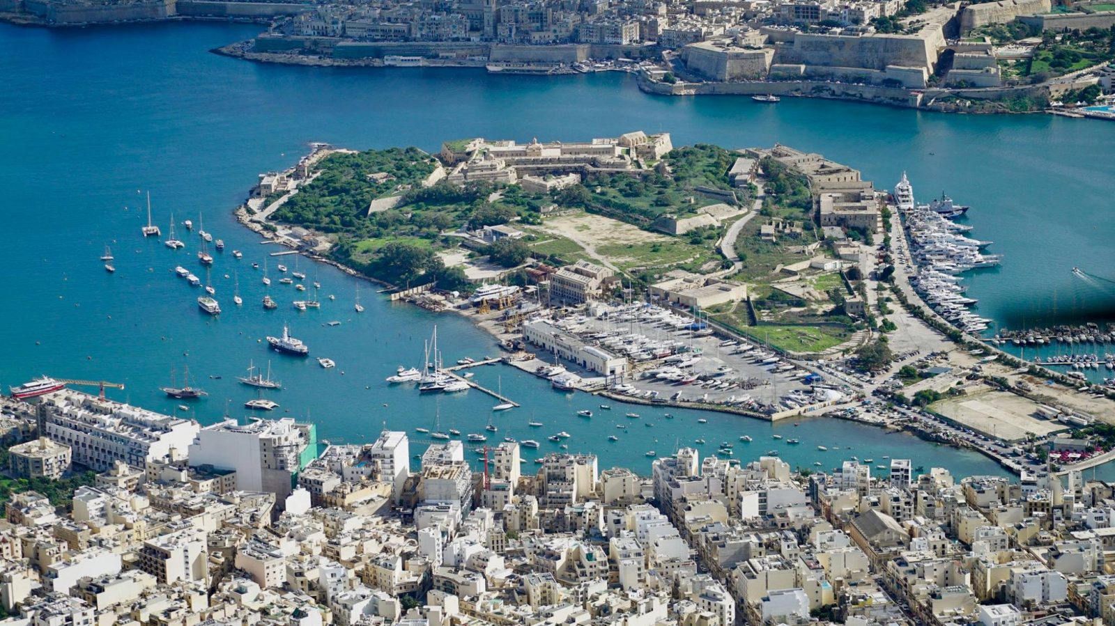 Manoel Island view from the air
