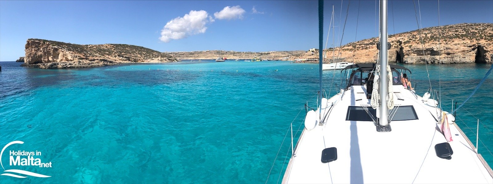 View from the boat to Blue Lagoon