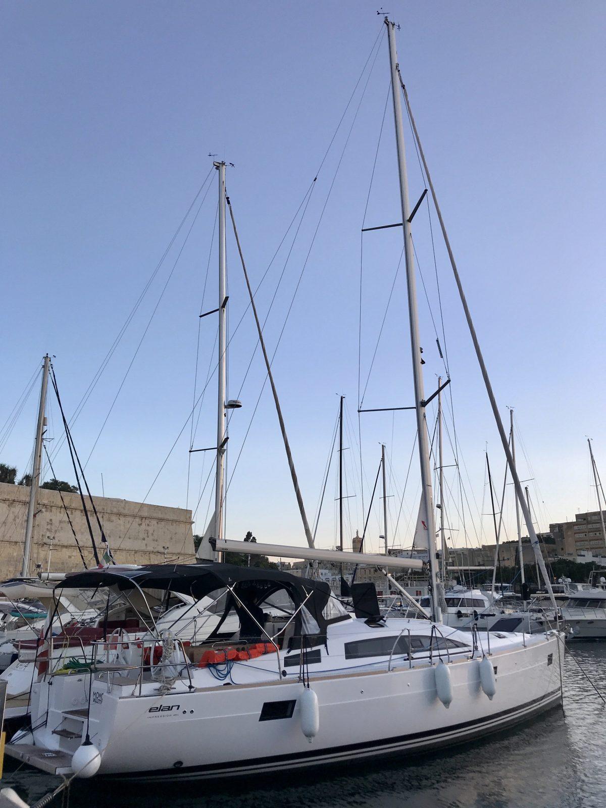 Sailing yacht in the marina